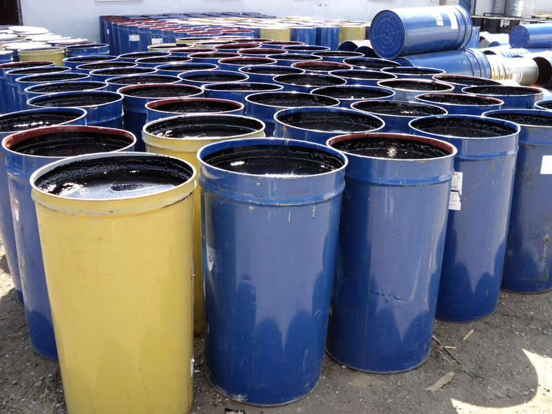 Bitumen in barrels